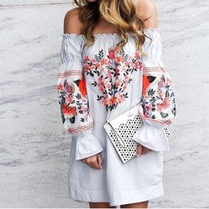 Free People Off The Shoulder Floral Dress